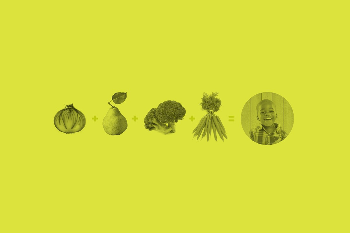 header image for Get Real About Capital Campaigns blog of food with a child